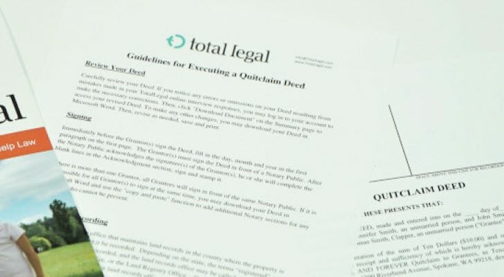 Image shows an image of a form from TotalLegal. SmartAsset reviewed TotalLegal to see how it stacked up against other estate planning websites.