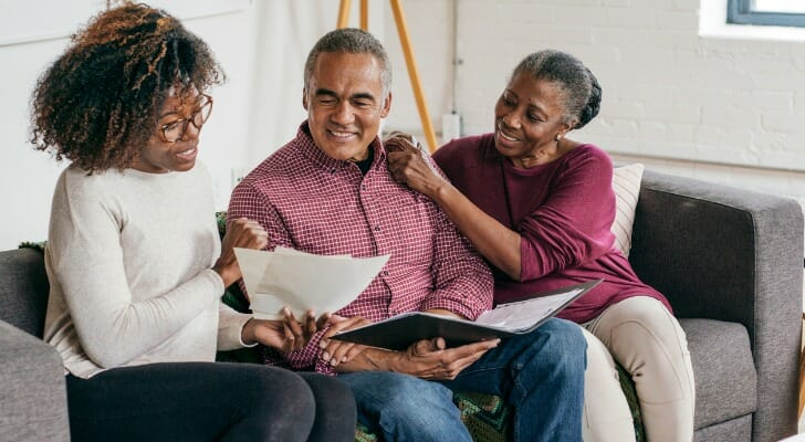 Older couple completes their estate plan
