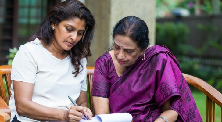 Mother and daughter study payable on death document