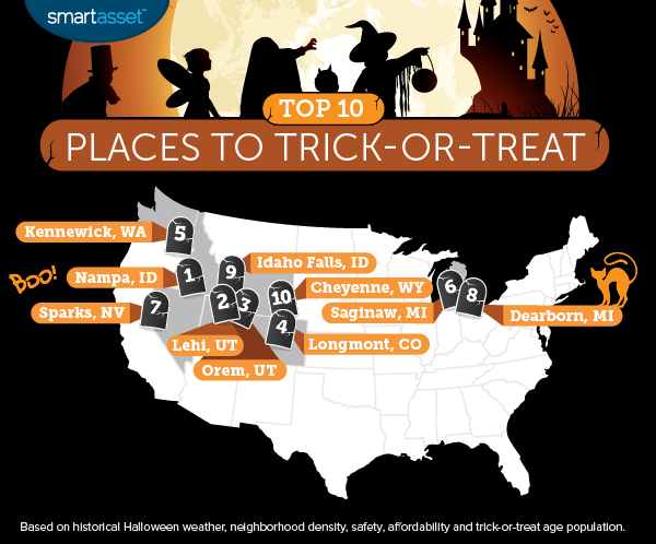 The Top 10 Best Places to Trick-or-Treat