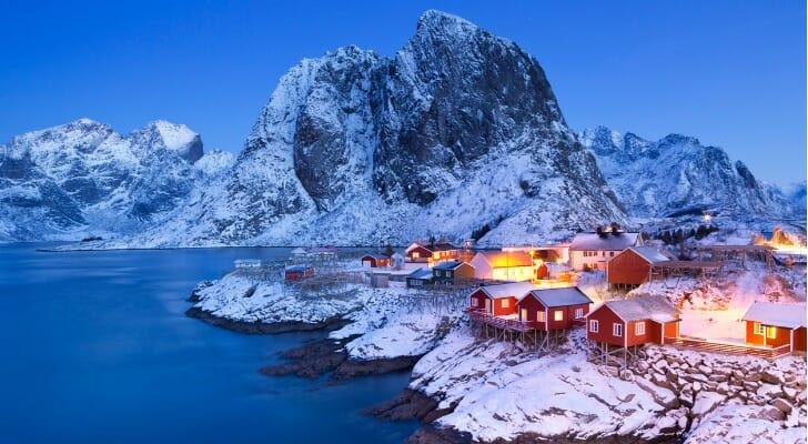Coastal village in norther Norway