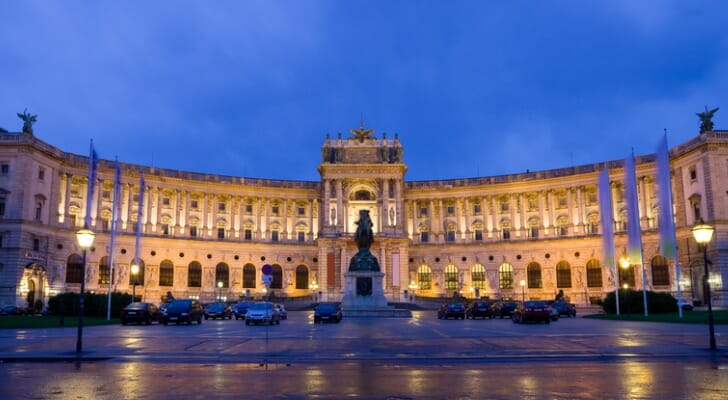 The Hofburg Imperial Palace in Vienna