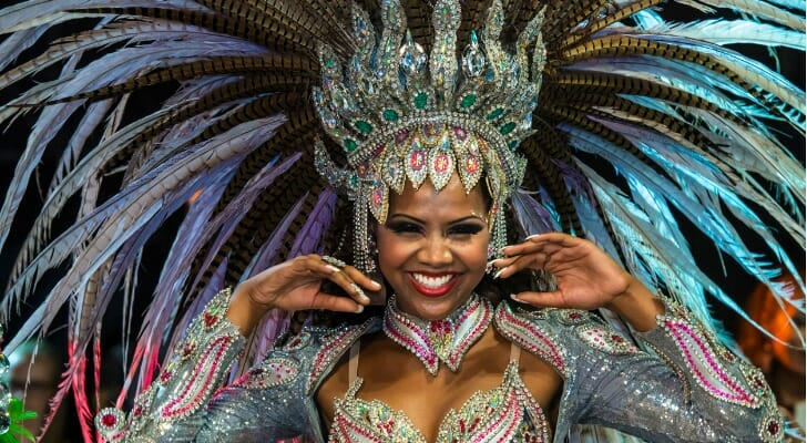Woman during carnival