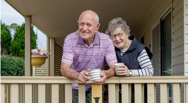 Senior couple on their porch