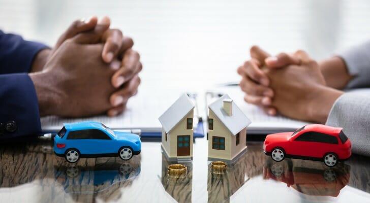 Divorcing couple splits house value