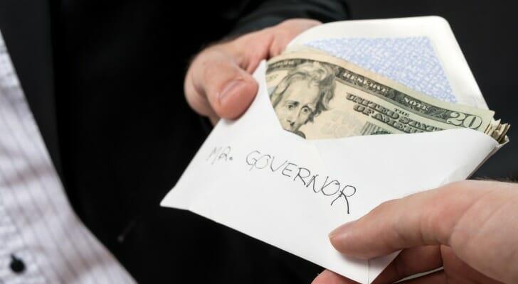 Political cash donation