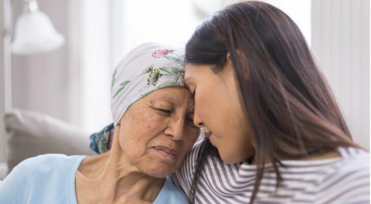 Elderly woman near death