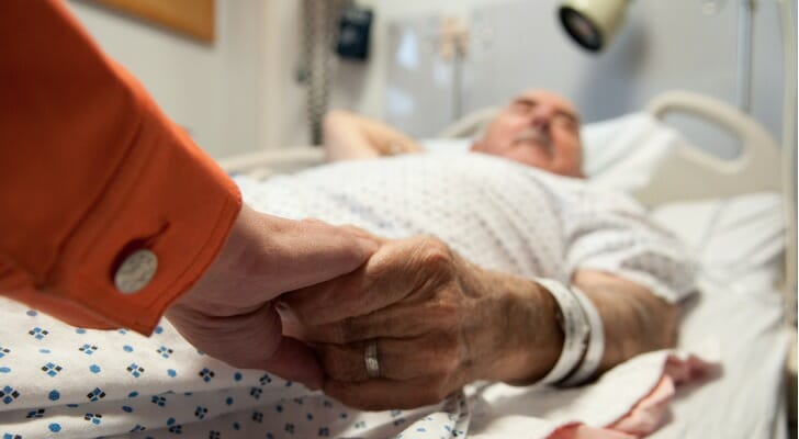 Elderly man near death