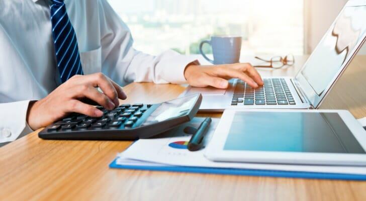 Accountant prepares a tax return