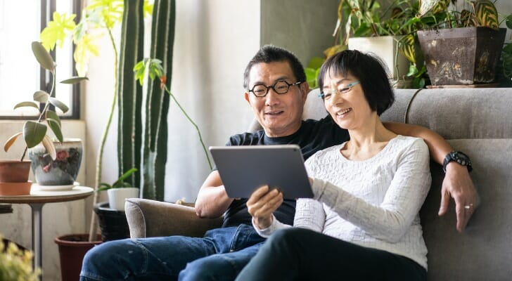 Retired Asian couple