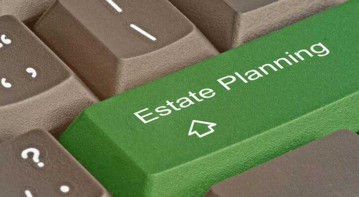 Estate Planning key on a keyboard