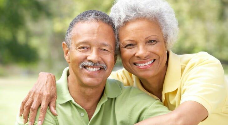 Elderly black couple