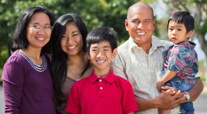 Pacific Islander family