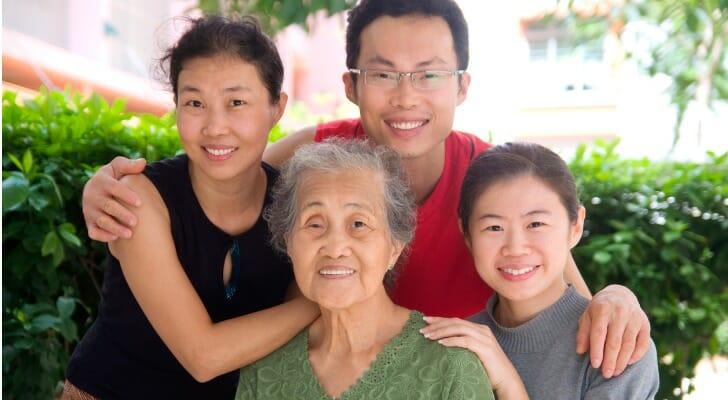 An Asian family