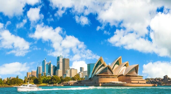 Sydney, Australia, with the iconic opera house in the foreground