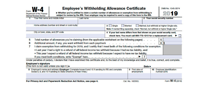 W-4 Form (IRS) - How to Fill It Out: Definitive Guide (2018