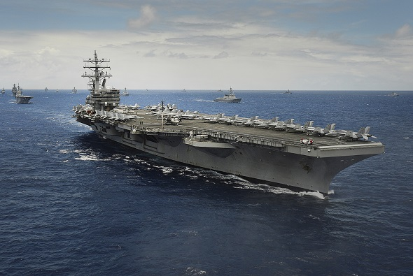 An Aircraft Carrier. Designed by Marine Engineers and Naval Architects.