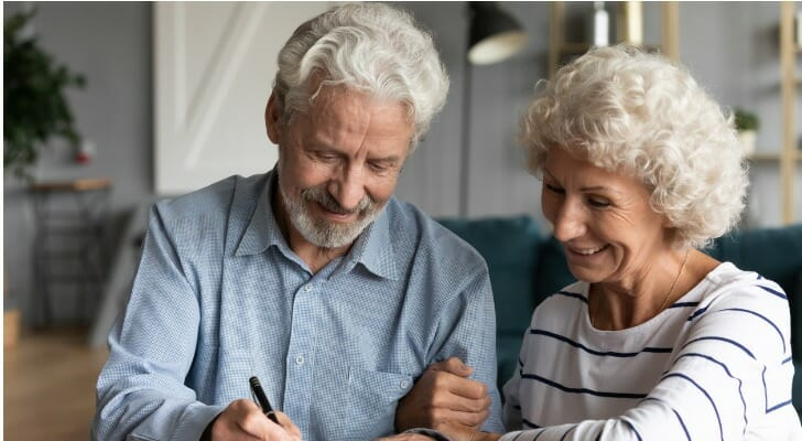 Older couple sign their living trust