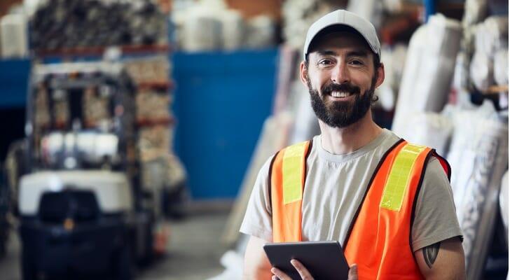 A warehouse worker