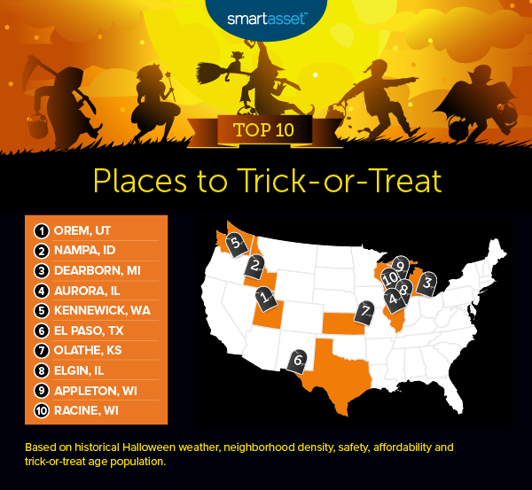 Halloween Temperatures Olathe Ks 2020 Best Places to Trick or Treat in 2019   SmartAsset
