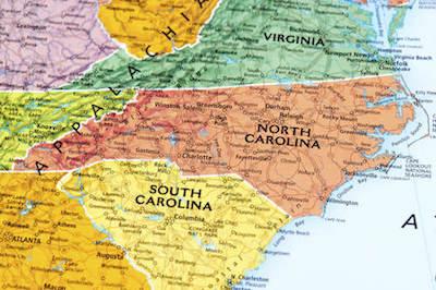 North Carolina Retirement Tax Friendliness SmartAssetcom - Map of virginia and north carolina